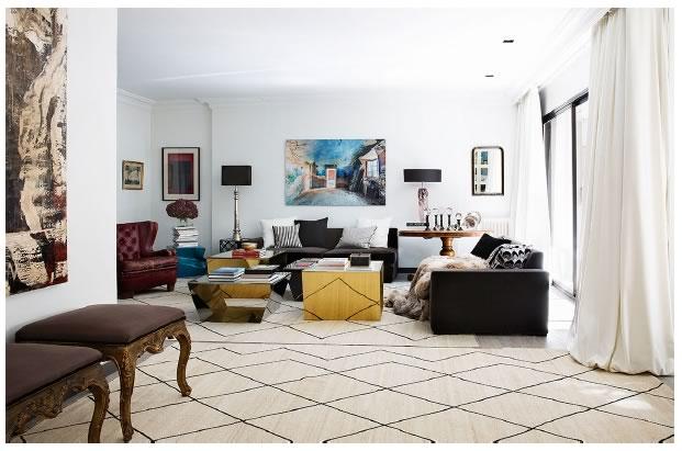 Salon reformado en estilo moderno por Adirana Luengo