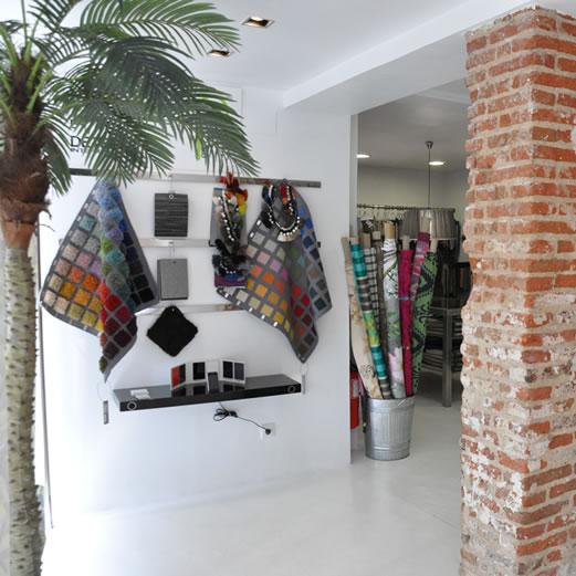 Imagen del interior de la Tienda Detela en Madrid