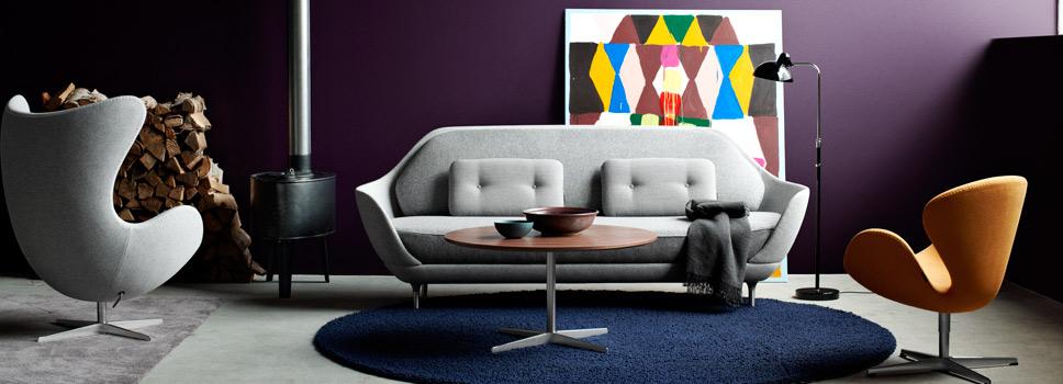 Imagen de un salon con meubles del diseño danes